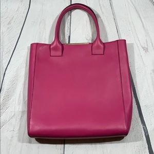 BCBG NWT Pink Leather Handbag Pocket for Tablet